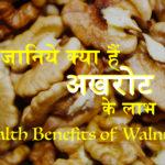 सुपर फ़ूड अखरोट – जानिये क्या हैं इसके स्वास्थ्य संबधी फायदे (Super Food Walnut: Know the Health Benifits)