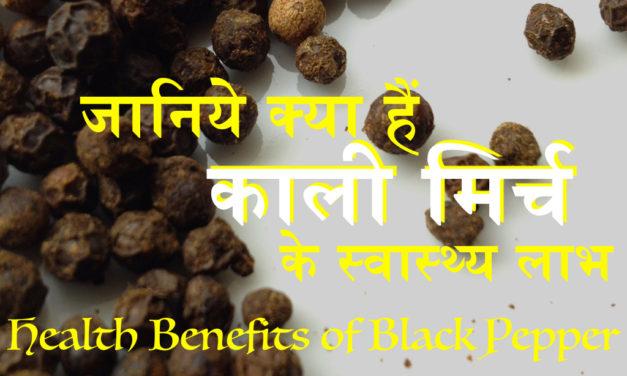 काली मिर्च के फायदे (Amazing Benefits of Black Pepper)